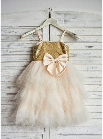 Princess Tulle/Sequined Girl Dress With Bows