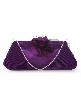 Gorgeous Silk With Beading/Flower Clutches
