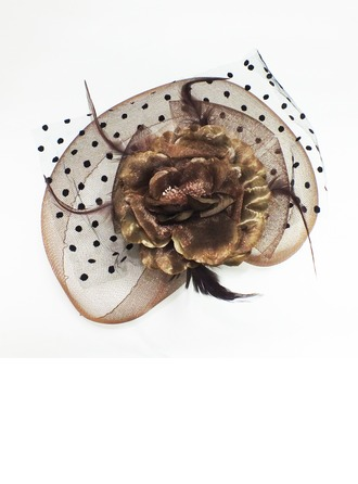 Le plus chaud Soie artificielle/Feather/Tulle Chapeaux de type fascinator