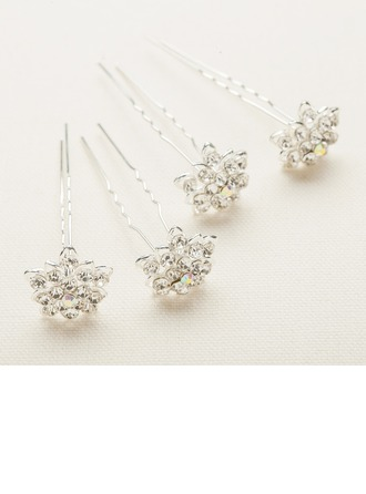 Beautiful/Handmade Alloy/Austrian Crystal Hairpins(Set of 4)