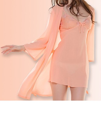Chiffon Feminine Sleepwear(Including Chemise And Robe)