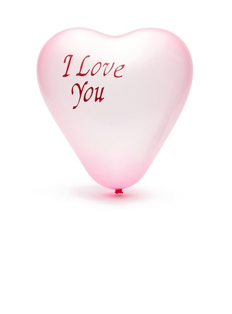 """I Love You"" Balloon  (More Colors)"