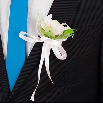 Classic Round Artificial Silk Boutonniere/Men's Accessories