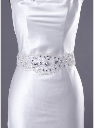 Superior Handmade Satin/Lace Wedding/Evening Belt With Beading