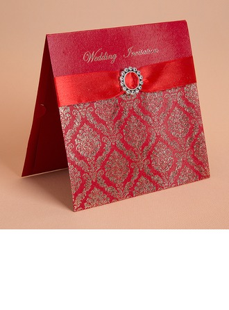 Style Florale Pli horizontal Invitation Cards