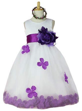 Princess Tulle Girl Dress With Appliques Lace/Flower(s)