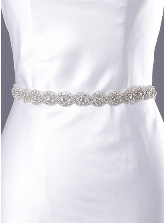 Satin Women's Wedding/Evening Ribbon Sash With Rhinestone