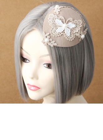 Ladies' Elegant Spring/Autumn/Winter Cotton/Lace With Pearl Beret Hat