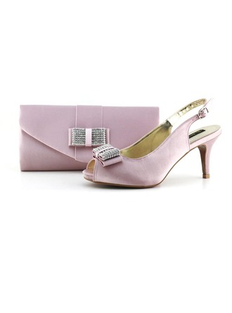 Elegant Satin Shoes & Matching Bags