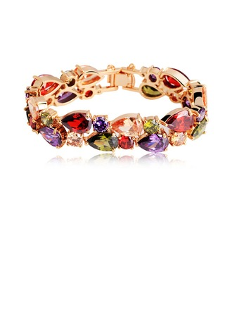 Belle Zircon de/Plaqué or rose Dames Bracelets