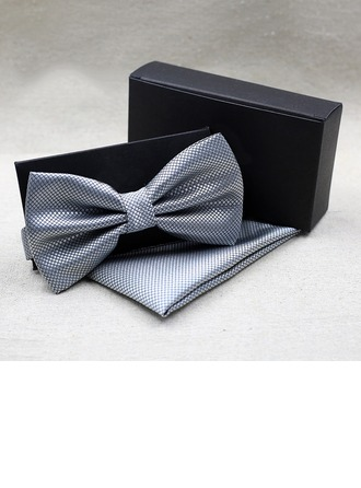 Couleur unie Polyester Bow Tie Pocket Square