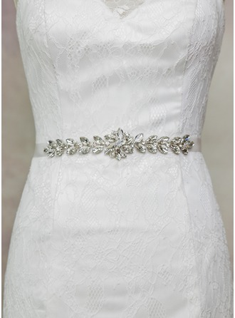 Lovely Satin Sash With Rhinestones