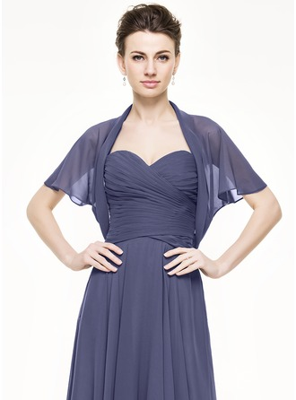 Short Sleeve Chiffon Special Occasion Wrap