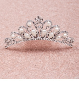 Pretty Rhinestone/Alloy/Imitation Pearls Tiaras
