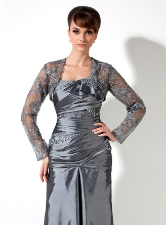 Long Sleeve Tulle Special Occasion Wrap