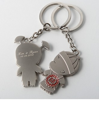 Personalized Lovely Girl&Boy Zinc Alloy Keychains