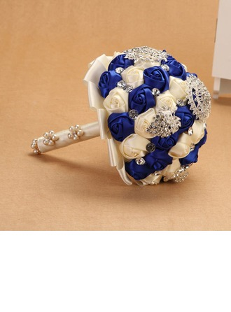 Classic Round Cloth Bridal Bouquets