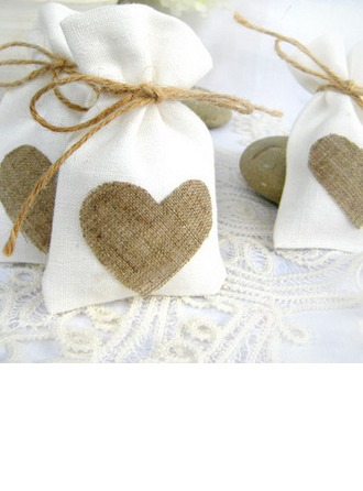 Favor Bags With Heart Charm