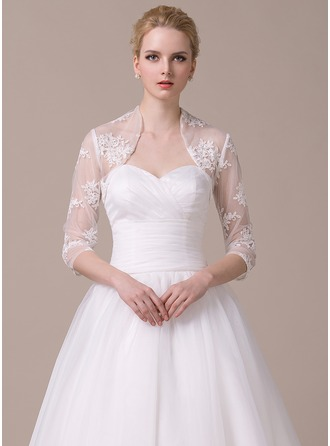 3/4-Length Sleeve Lace Wedding Wrap