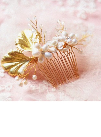 Stylish Imitation Pearls/Copper Combs & Barrettes
