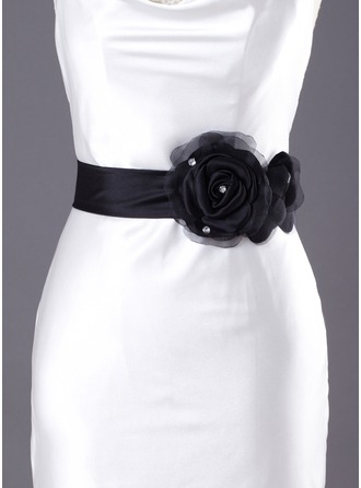 Satin/Tulle Wedding/ Bridal Ribbon Sash