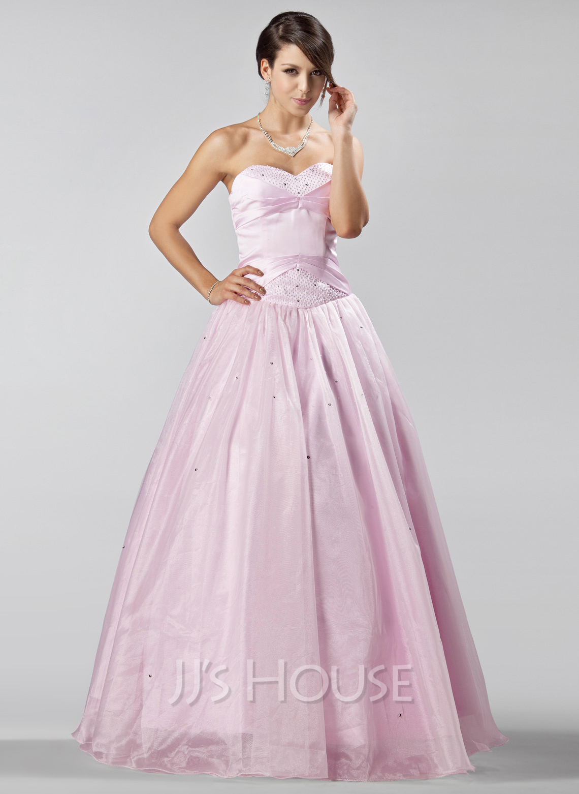 Floor Accessories >> A-Line/Princess Sweetheart Floor-Length Organza ...