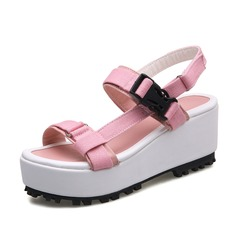 Women's Canvas Wedge Heel Sandals Slingbacks shoes