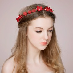 Flower Shaped Rhinestone/Artificial Silk Headbands