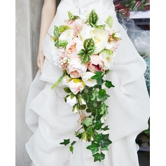 Charming Cascade Artificial Silk Bridal Bouquets -