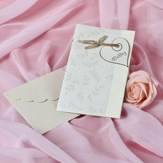 Heart Style Side Fold Invitation Cards