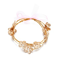 Romantic Flowers Alloy/Czech Stones Ladies' Bracelets