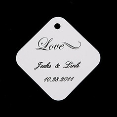 "Personalized ""Love"" Hard Card Paper Tags"