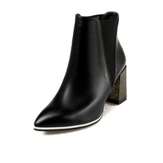 Women's Real Leather Low Heel Platform Ankle Boots With Split Joint shoes