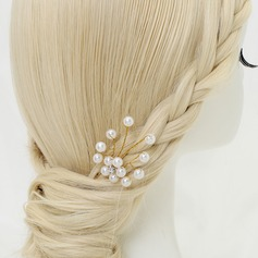 Simple Alloy/Imitation Pearls Hairpins