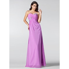 Empire Sweetheart Floor-Length Chiffon Bridesmaid Dress With Ruffle Beading Sequins