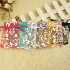 Heart style Favor Bags With Ribbons