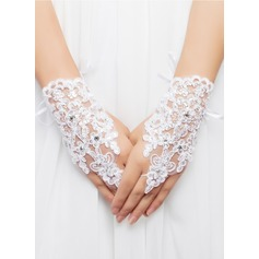 Lace/Voile Wrist Length Bridal Gloves (014062350)