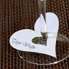 Heart Design Pearl Paper Place Cards