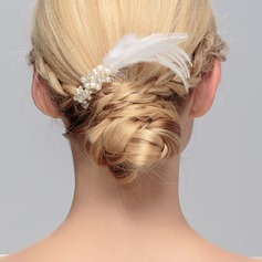 Stylish Crystal/Feather Combs & Barrettes