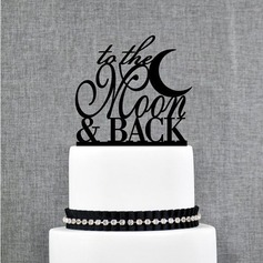to the Moon & Back Acrylic Wedding Cake Topper/Bridal Shower Cake Topper