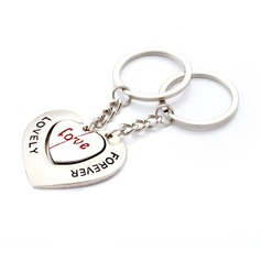 """Personalized """"Lovely Forever"""" Stainless Steel Keychains"""