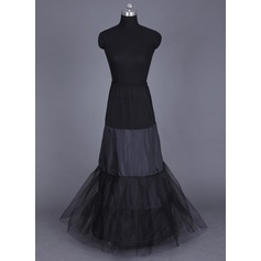 Women Tulle Netting/Lycra Floor-length 2 Tiers