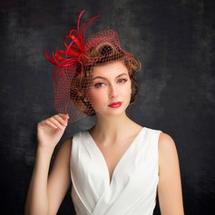 Ladies' Classic Feather/Tulle With Feather/Tulle Fascinators