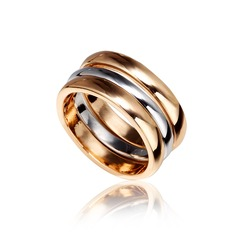 Shining Alloy/Gold Plated Ladies' Rings