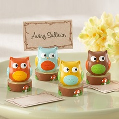 Owl Shaped Resin Place Card Holders