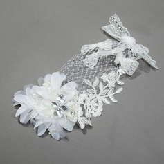 Beautiful Net Yarn/Silk Flower Combs & Barrettes