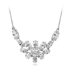 Elegant Zircon/Gold Plated/Silver Plated Ladies' Necklaces