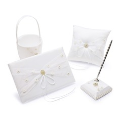 Flowers Design Collection Set in Satin With Ribbons/Sash