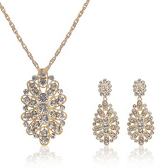 Beautiful Alloy Crystal Ladies' Jewelry Sets