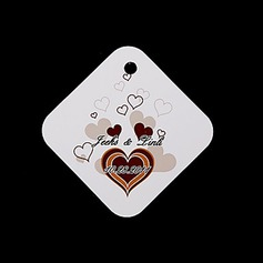 Personalized Heart design Hard Card Paper Tags